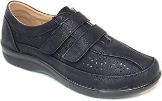 Ladies Womens Twin Touch and Close Cutwork Shoe Size