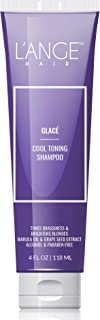 L'ange Hair Glace Cool Toning Shampoo for Blonde or Colored Hair. 4 Oz