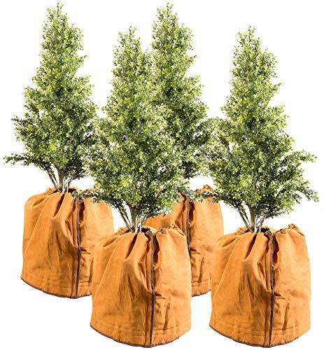 Royal Gardineer Kübelpflanzen Säcke: 4er-Set Thermo-Topfschutze für Pflanzen, 50 x 45 cm (Pflanzen überwintern)