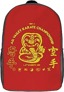 Mochila de ocio Cobra-Kai: mochila clásica para portátil de 17 pulgadas, mochila de camping, mochila de viaje al aire libre, mochila escolar universitaria