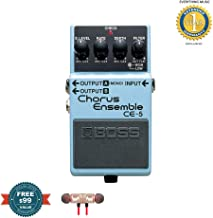 BOSS CE-5 Chorus Ensemble Pedal includes Free Wireless Earbuds - Stereo Bluetooth In-ear and 1 Year Everything Music Extended Warranty
