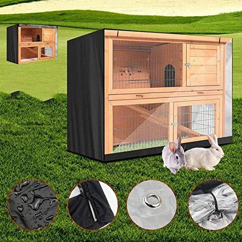 Mirui Muebles de terraza Cubierta del Conejo de la Jaula Cubierta de Polvo a Prueba de Viento Impermeable ya Prueba de Polvo