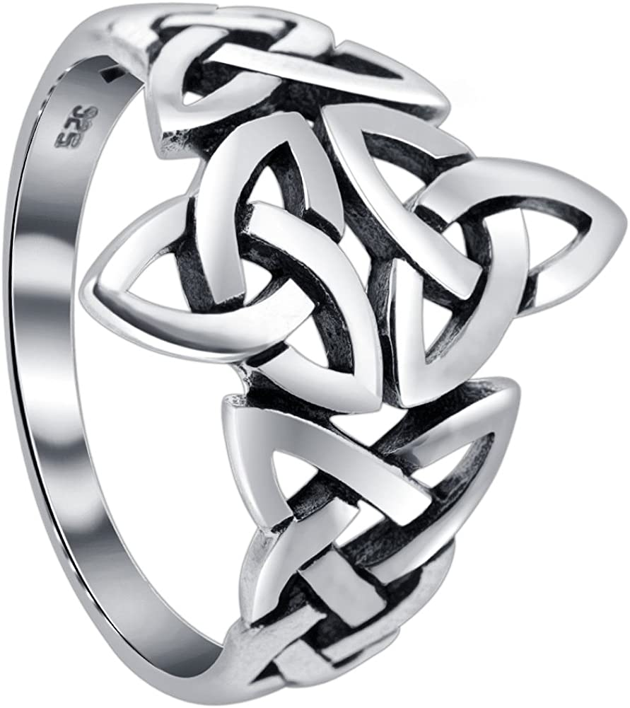 Sterling Silver service Triquetra Celtic Finally popular brand Ring Knot Design