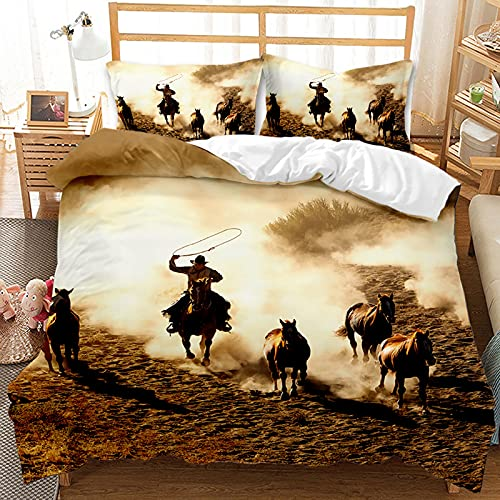 GFKJ Cowboys patroon dekbedovertrek, Western Cowboys thema dekbedovertrek set, beddengoed dekbedovertrek 1…