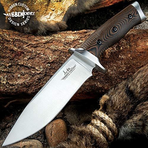 Battle-Merchant Feststehendes Messer, Gil Hibben Tundra Hunter, Griffmaterial aus Micarta