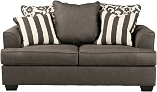 Signature Design by Ashley - Levon Classic Loveseat, Charcoal Gray