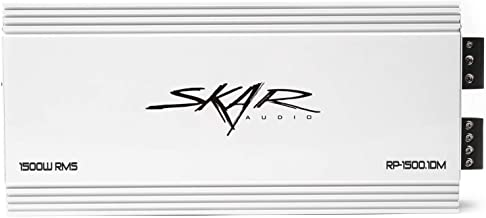 Skar Audio RP-1500.1DM 1,500 Watt Monoblock Class D Marine Subwoofer Amplifier