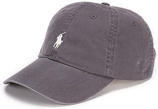 قبعة بيسبول كلاسيكية للرجال (مقاس واحد، رمادي غامق (3014)/أبيض)