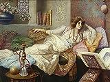 Artland Alte Meister Premium Wandbild Umberto Cacciarelli Bilder Poster 60 x 80 cm Die Königin des Harems Kunstdruck Wandposter Impressionismus R1VI