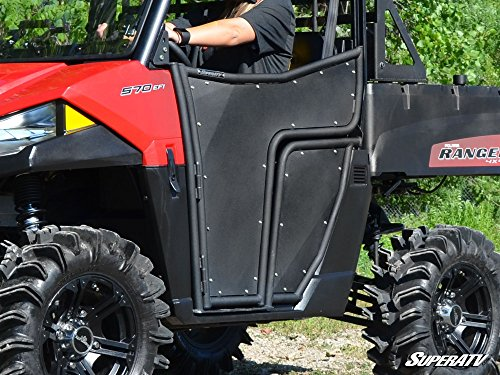 SuperATV Aluminum Doors for Polaris Ranger Midsize 570 / ETX/EV (2015+) - Pair of Front Doors