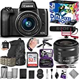 Canon EOS M50 Mirrorless Digital Camera and 15-45mm Lens Video Creator Kit with Altura Photo Essential Accessory and Travel Bundle
