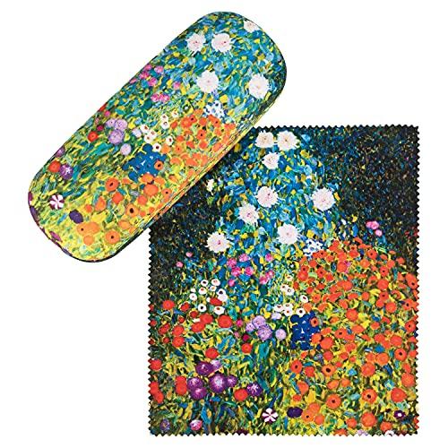 von Lilienfeld Estuche Gafas Jardín de flores de Gustav Klimt Funda Ligeramente Estable Colorido Paño de limpieza
