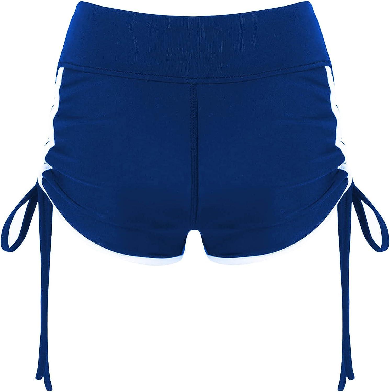 Yeahdor Kids Girls Stretchy Booty Shorts Athletic Gymnastics Ballet Dance Shorts Gym Yoga Shorts Tumbling Bottoms Drawstring Blue 6 : Clothing, Shoes & Jewelry