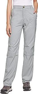 BALEAF Women`s Lightweight Hiking Pants Convertible Roll Up UPF 50 Stretch Outdoor Capri Pants Water Resistant