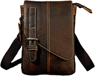 Shoulder Crossbody Bag - First Layer Leather Retro Pouch, First Layer Leather 8