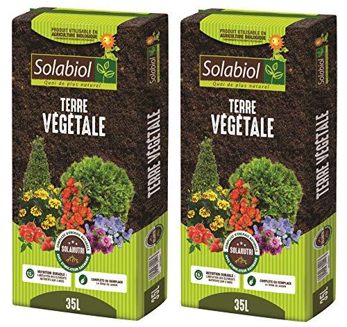 SOLABIOL TERVEG35 Terre VEGETALE 2x35 L | Jusquà 5 Mois de Nutrition, Utilisable en Agriculture Biologique