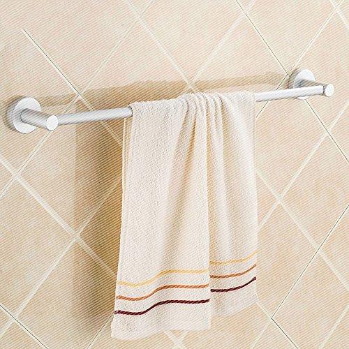 Toallero de aluminio espacial de una sola varilla sólida gruesa base para baño colgante barra de toalla