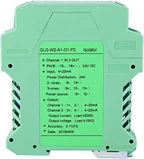 DC Signal Conditioner, DC 24V DC Current Signal Isolator Transmitter 4-20mA PLC Detect Signal Conditioner(1 in 2 out, 4-20...