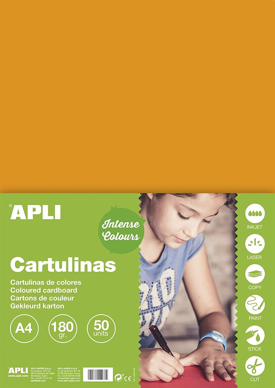 APLI 10 10 10 Stück Schutzhüllen cartoline von Mosaiken 180 g A4 50 F Orange B01J65HWVO | Produktqualität  0dd4fe