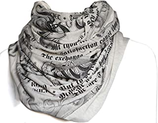 Literati Club Romeo and Juliet Book Scarf,Oatmeal,One Size