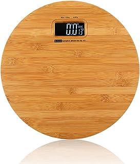 UYZ Báscula de pesaje electrónica Digital de Madera Maciza, Weight Watchers Básculas de baño de Alta precisión Ultradelgadas 2 baterías alimentadas