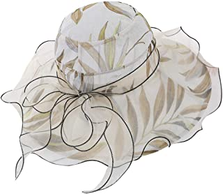 hositor Kentucky Derby Hats for Women, Ladies Organza Church Kentucky Derby Fascinator Bridal Tea Party Wedding Hat