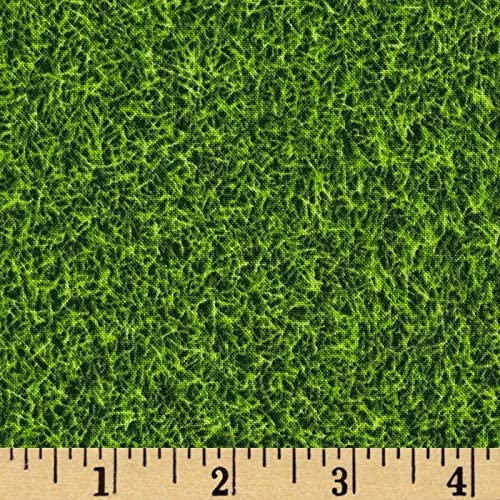 Kaufman OFFicial shop Sports Life Grass Turf by the Fabric Quilting Max 85% OFF Yar