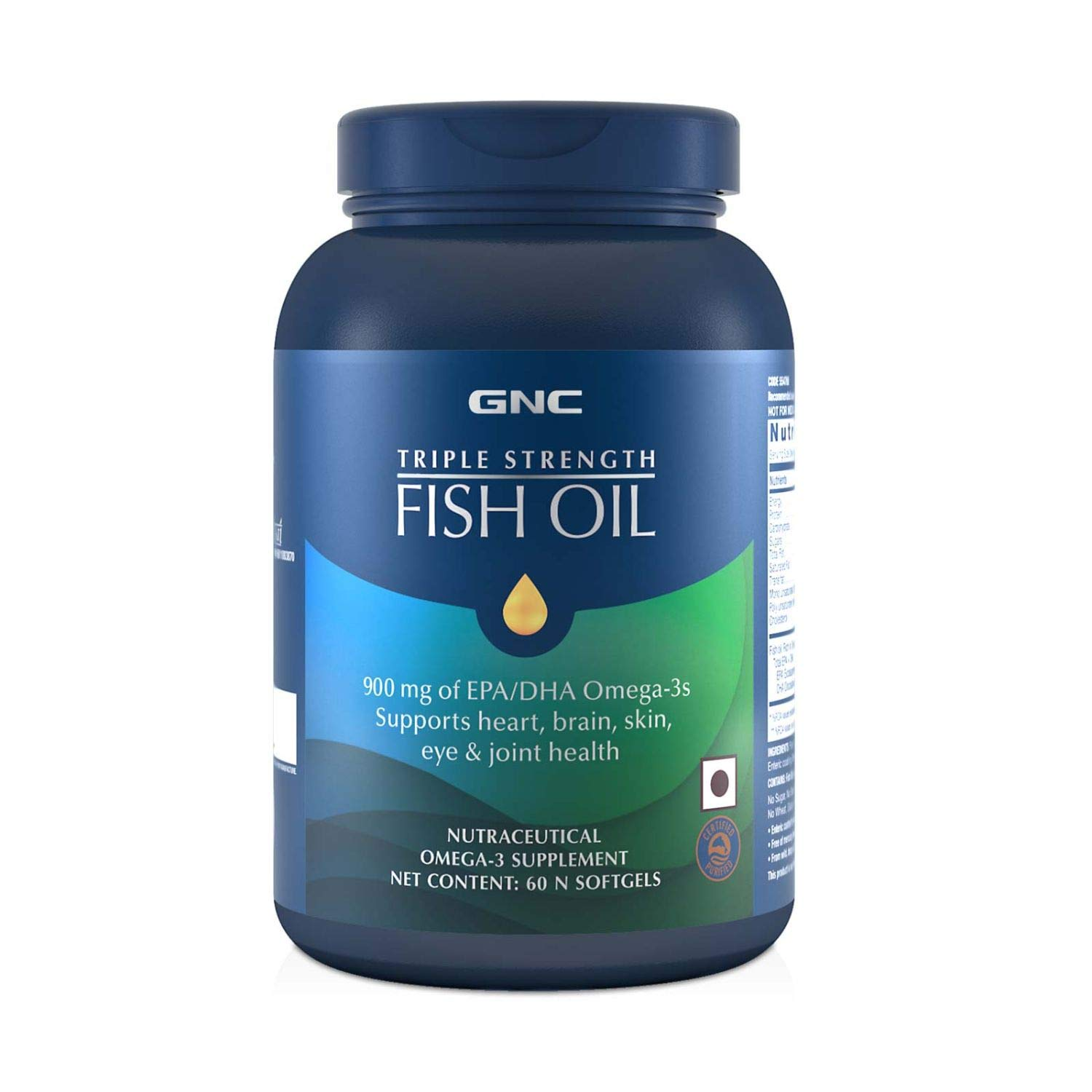 Gnc Triple Strength Fish Oil 1500Mg Omega-3 Supplement - 1500Mg Of Omega 3S Including 540 Mg Epa &Amp;Amp; 360 Mg Dha - (60 Softgels) : Amazon.in: Health &Amp;Amp; Personal Care