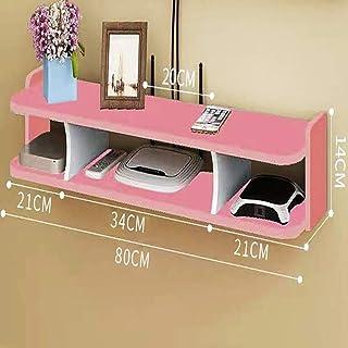 HJJ Los estantes flotantes De Pared/Caja de Cable/enrutador/Control Remoto/Reproductor de DVD/Consola de Juegos, Convenien...