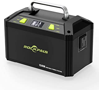 ROCKPALS 178Wh 48000mAh Portable Generator CPAP Battery Pack for Camping, 150W Solar Power Generator Power Station with 110V AC Outlet, 12V Car, USB Output for Home Emergency Backup