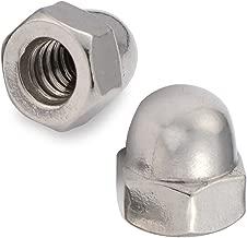 10-24 Acorn Cap Nuts, Stainless Steel 18-8 (304), Plain Finish, 50 PCS