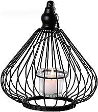 ZLBYB Metal Shaped Geometric Design Tea Light Votive Candle Holders, Iron Hollow Tealight Candle Holders for Vintage Weddi...