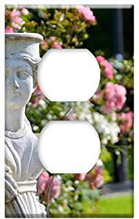 Switch Plate Outlet Cover - Figure Statue Garden Gnome Garden Clay Figure