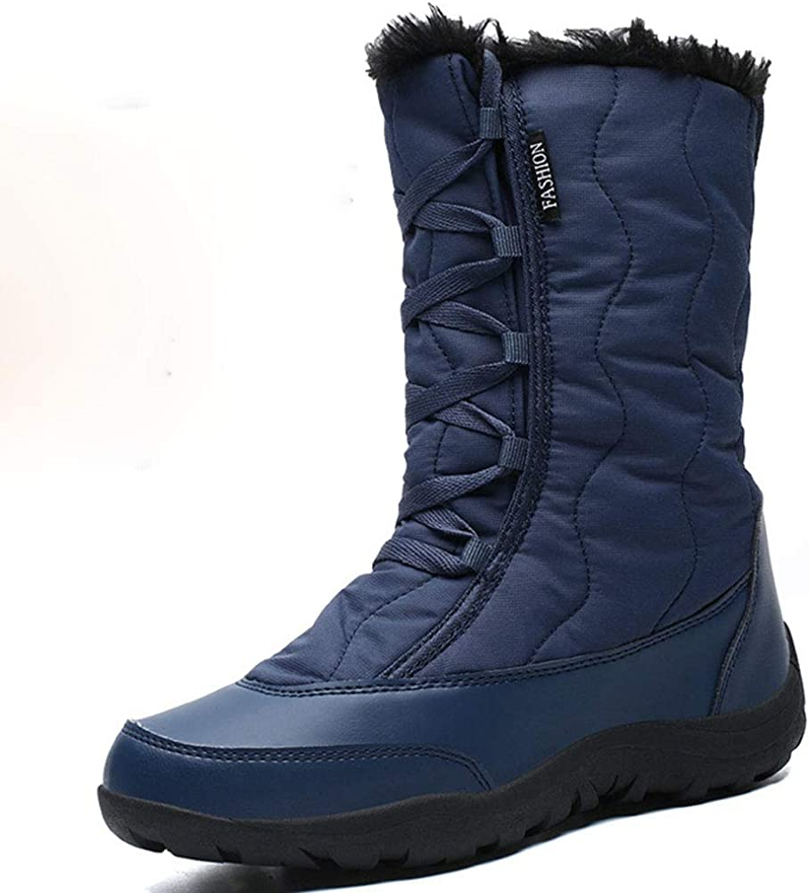 Vimisaoi Snow Boots Classic for Women,Lace Ranking TOP17 Up Work Low Combat Heel