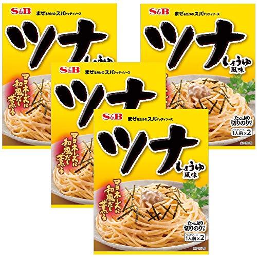 S&B 生風味スパゲッティソース ツナしょうゆ風味 81.4g ×4袋