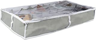 DII Breathable, Under the Bed or Closet Soft Storage Bag with Clear Viewing Window & Zipper Closure For Shoes (Fits 16 Pairs - 37 x 23 x 6