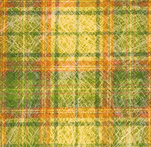 Chaks 0888, Sachet 10 Sets de Table carré Madras jaune