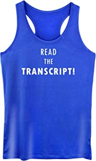 GROWYI Funny Workout Tank Top Racerback for Women with Saying Read The Transcript Political Fitness Gym Sleeveless Shirt