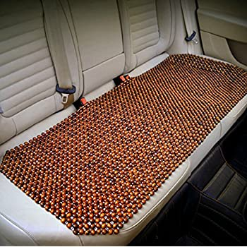 HomDSim Wood Beaded Auto Car Front Seat Cover,Natural Rosewood Wooden Bead Cool Refreshing Back Massaging Comfort Cushion Mat,Premium Quality Universal for Car Truck on Summer