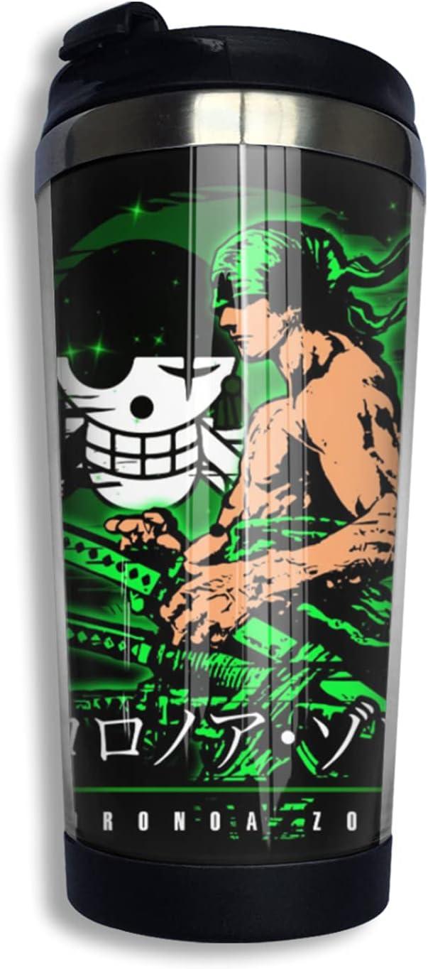 Selling rankings One New item Piece Samurai Roronoa Zoro Anime Thermos Cup Coffee 3d Print