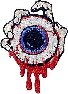 Toppa ricamata da applicare con ferro da stiro o cucitura, tema: Prendi il bulbo oculare