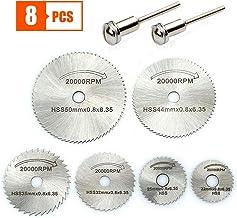 Mini hojas de sierra circular - Accesorios para el kit de disco de corte de herramienta rotativa, discos de corte de taladro de metal para cortar metal de plástico y madera (8 piezas)