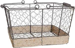 ZXY-NAN Retro Wrought Iron Shopping Basket Storage Basket Toy Snack Box Storage Chests Furniture