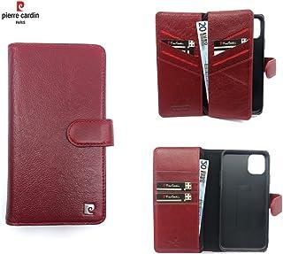 Pierre Cardin Leather Wallet series Booktype cover voor de Apple iPhone 11 Pro Max - Rood - Echt Leer