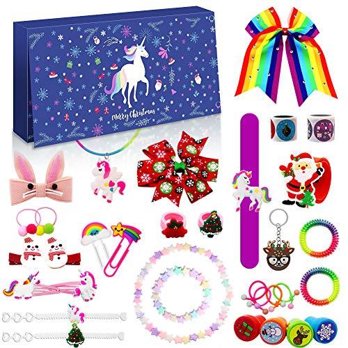 Devis Calendario de Adviento de Navidad 2020, con cuenta atrás, pulsera, collar, joya para el pelo, llavero, para niñas y mujeres