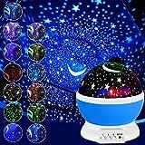 Luz Nocturna Infantil De Cielo Estrellado Para NiñOs Proyector Estrellas De Giratorio 360 Grados, LáMpara De...
