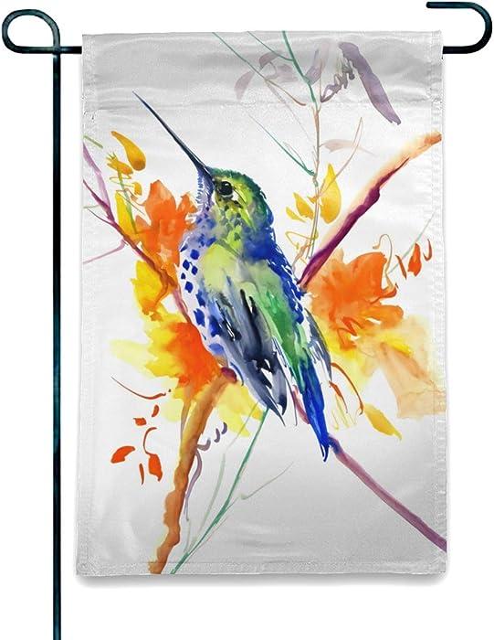 The Best Welcome Hummingbird Garden Flag