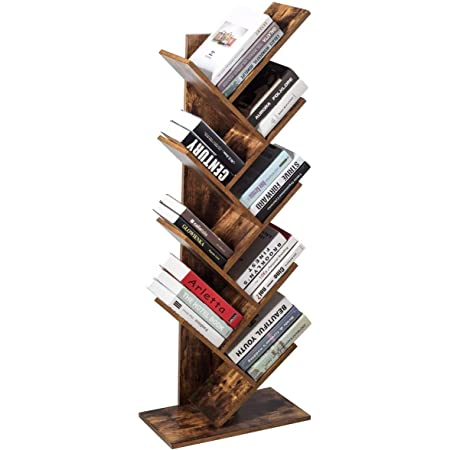 Himimi Librería de 9 niveles, vintage estantería libros con ...