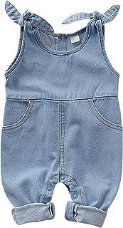 T TALENTBABY Combinaison en jean pour nouveau-né - Pour bébé - Taille unique