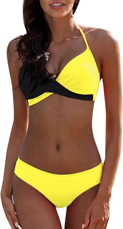 ZANFUN High Waisted Bikini Swimsuit for Women Tummy Control Two Piece Bathing Suits Floral Sexy Ruffled Tankini Swimwear